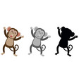 set of monkey character vector image vector image