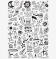 space doodle set vector image vector image