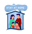 stay-at-home vector image vector image