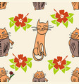 stylish cats pattern vector image vector image