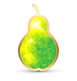 Stylized Pear Isolated on White vector image vector image