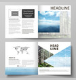 templates for square design bi fold brochure vector image vector image