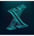 The letter X Polygonal letter Low poly model vector image vector image