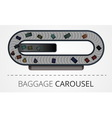 The modern baggage carousel construction vector image vector image