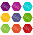 toy synthesizer icons set 9 vector image