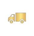 Truck computer symbol vector image vector image
