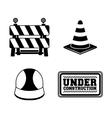 Under construction icon set design vector image