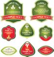 various labels shape vector image vector image