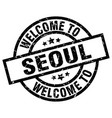 welcome to seoul black stamp vector image vector image