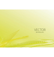 Yellow smooth light lines vector image vector image