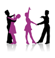 Young ballroom dancers vector image