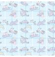 Baby Seamless Wallpaper Transportation vector image