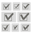 icons with checkmarks vector image