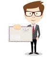 Modern postman delivered a letter to you vector image