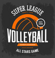 t-shirt print with volleyball ball for sport team vector image