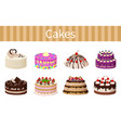 various delicious desserts vector image