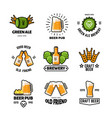 beer pub logos and emblems brewery and vector image