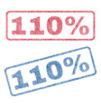 110 percent textile stamps vector image vector image