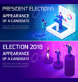 advertising concept isometrics elections vector image vector image