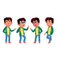 asian boy set primary school child for vector image