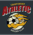 athletic soccer vector image vector image