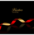 Background with red gold ribbon