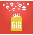 big sale promotion discount background vector image