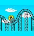 bitcoin fluctuations pop art vector image