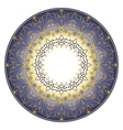 blue plate ornament vector image vector image