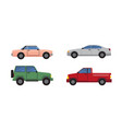 cars set different color vector image vector image