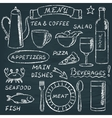 chalkboard menu elements set 2 vector image
