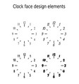 classic clock face design elements set of four vector image vector image
