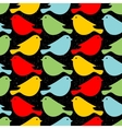 Colorful birds seamless patterns vector image