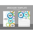 Colorful circles brochure vector image vector image