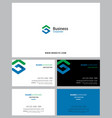 corporate logo identity and business card vector image vector image