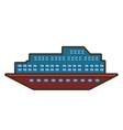 cruise ship travel maritime transport vector image