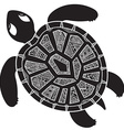 Decorative graphic turtle tribal totem animal vector image vector image