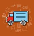 delivery transport truck supermarket vehicle vector image vector image