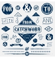 Design elements set and vintage catchword
