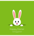 easter bunny in hole vector image vector image