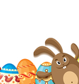 eggs and hare vector image vector image