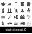 electric icon set 2 gray icons on white vector image vector image