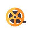 film strip roll cinematography flat icon vector image vector image