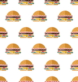 Flat hamburger seamless pattern vector image