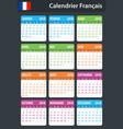 french calendar for 2018 scheduler agenda or vector image vector image