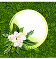 fresh green abstract spring background with flower vector image