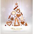 gingerbread christmas design vector image