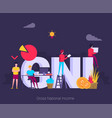 gni gross national income acronym concept with vector image vector image