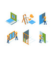 home repair wall installation equipment paint vector image vector image