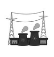 isolated nuclear power plant vector image